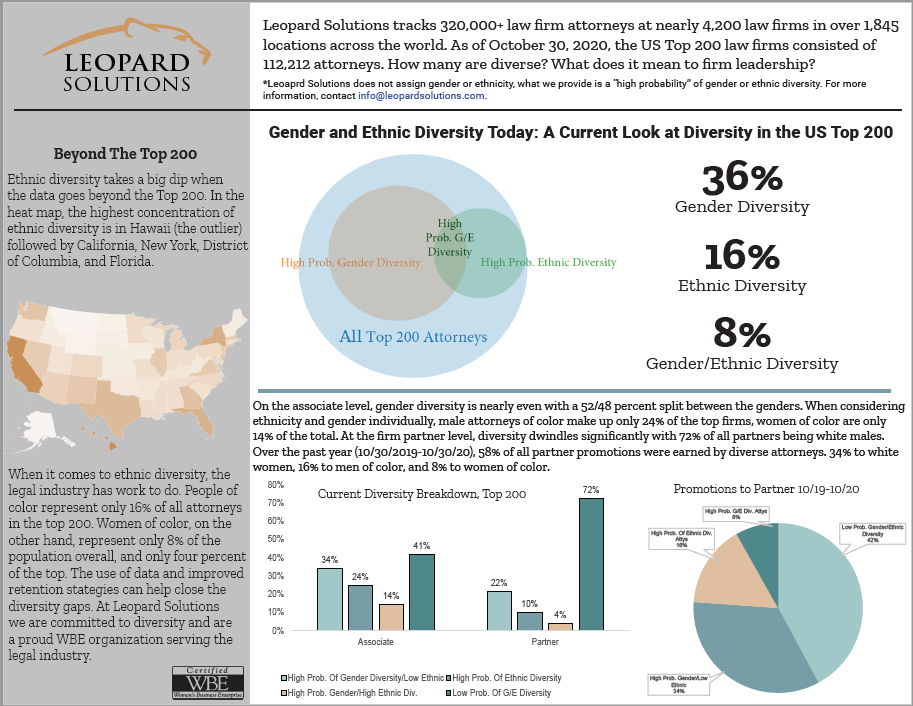 Law Firm Gender and Ethnic Diversity 2020