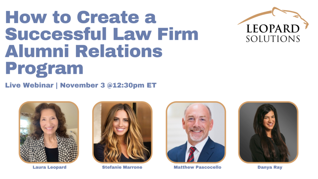 How to create a successful law firm alumni program